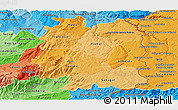 Political Shades Panoramic Map of Beira Interior Norte