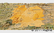 Political Shades Panoramic Map of Beira Interior Norte, satellite outside