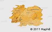 Political Shades Panoramic Map of Beira Interior Norte, single color outside