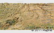 Satellite Panoramic Map of Beira Interior Norte