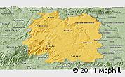 Savanna Style Panoramic Map of Beira Interior Norte