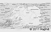 Silver Style Panoramic Map of Beira Interior Norte