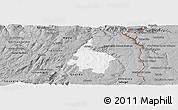 Gray Panoramic Map of Pinhel