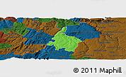 Political Panoramic Map of Pinhel, darken