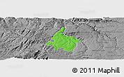Political Panoramic Map of Pinhel, desaturated