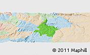 Political Panoramic Map of Pinhel, lighten