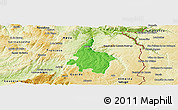 Political Panoramic Map of Pinhel, physical outside