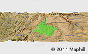 Political Panoramic Map of Pinhel, satellite outside
