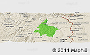Political Panoramic Map of Pinhel, shaded relief outside