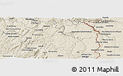 Shaded Relief Panoramic Map of Pinhel