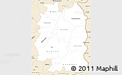 Classic Style Simple Map of Beira Interior Norte