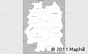 Gray Simple Map of Beira Interior Norte