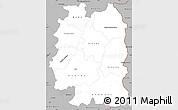 Gray Simple Map of Beira Interior Norte