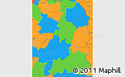 Political Simple Map of Beira Interior Norte