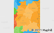 Political Shades Simple Map of Beira Interior Norte