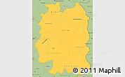 Savanna Style Simple Map of Beira Interior Norte