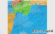 Political Shades 3D Map of Beira Interior Sul