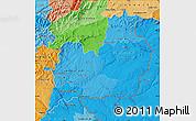 Political Shades Map of Beira Interior Sul
