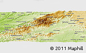 Physical Panoramic Map of Covilha
