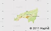 Physical Map of Fundao, cropped outside