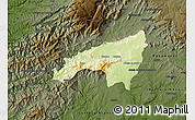 Physical Map of Fundao, darken