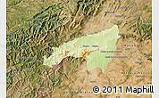 Physical Map of Fundao, satellite outside