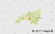 Physical Map of Fundao, single color outside