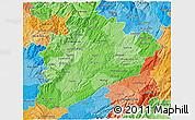 Political Shades 3D Map of Dâo-Lafôes