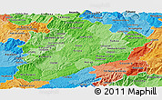 Political Shades Panoramic Map of Dâo-Lafôes