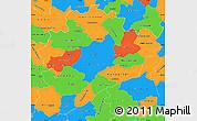Political Simple Map of Dâo-Lafôes