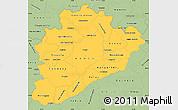 Savanna Style Simple Map of Dâo-Lafôes