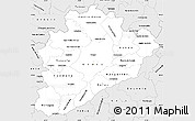 Silver Style Simple Map of Dâo-Lafôes