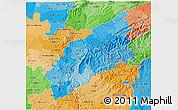 Political Shades 3D Map of Pinhal Interior Norte