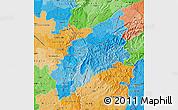 Political Shades Map of Pinhal Interior Norte