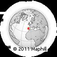 Outline Map of Pinhal Interior Norte