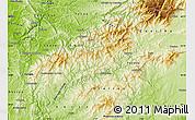 Physical Map of Pampilhosa da Serra
