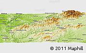 Physical Panoramic Map of Pampilhosa da Serra