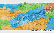 Political Shades Panoramic Map of Pinhal Interior Norte