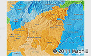 Political Shades 3D Map of Pinhal Interior Sul