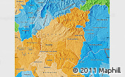 Political Shades Map of Pinhal Interior Sul