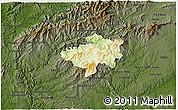Physical 3D Map of Oleiros, darken