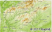Physical 3D Map of Oleiros