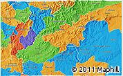 Political 3D Map of Oleiros