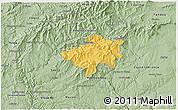 Savanna Style 3D Map of Oleiros