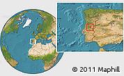 Satellite Location Map of Oleiros