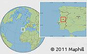 Savanna Style Location Map of Oleiros