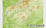 Physical Map of Oleiros