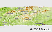 Physical Panoramic Map of Oleiros