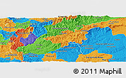Political Panoramic Map of Oleiros