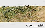 Satellite Panoramic Map of Oleiros